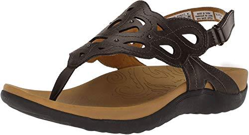 Rockport womens Ridge Sling Heeled Sandal, Bronze, 9.5 Wide US