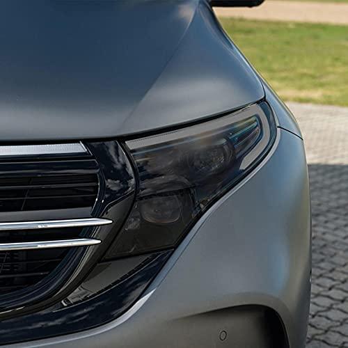 JHSOP Car Headlight Protective Film Taillight Smoked Black Tint Wrap Vinyl Transparent TPU Sticker, for Mercedes Benz EQC 2020 2021