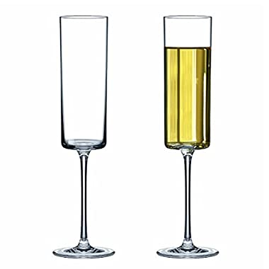 Premium Crystal Champagne Flute Glasses Elegantly Designed Hand Blown Champagne Glasses, Lead Free, 2 Set Champagne Cups