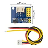 Weiming New 10pcs ESP8266 ESP-01 ESP-01S WS2812 RGB LED Controller Module for IDE WS2812 Light Ring Smart Electronic DIY