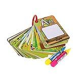 Allaind Tableros de garabatos mágicos de agua, 26 cartas de dibujo, reutilizables, juguete de educación temprana para niños