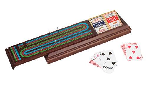Royal Cribbage Board with Cards, Pegs and Dealer Button