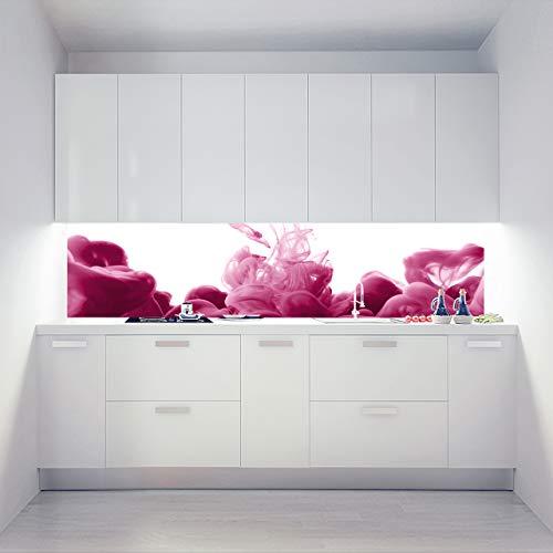 Küchenrückwand Alu Verbundplatten als Einzelplatte oder Plattenset für Eck und U-Form Küchen Zuschnitt auf Maß - Motiv Ace Vape Pink