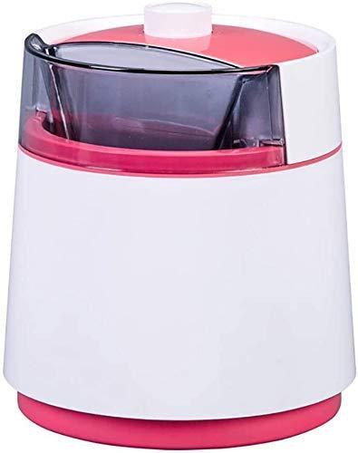 Máquina automática para hacer helados eléctrica de 800 ml, temporizador para máquina de helados pequeña, batidora de batidos con sorbete de frutas, máquina para postres helados, azul (color: rosa) p