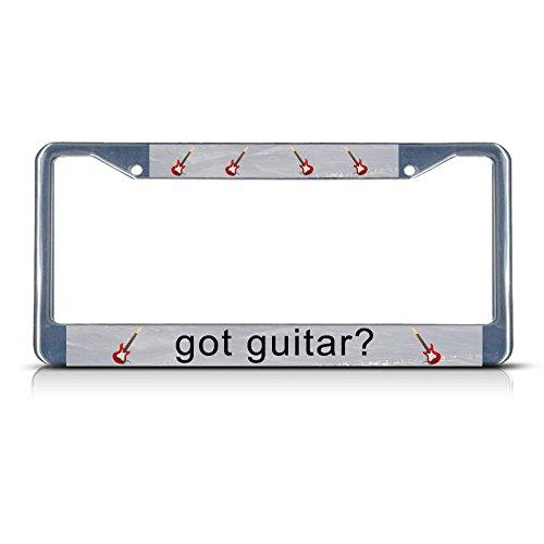 Heb je gitaar? Metal License Plate Frame Tag Border Twee Gaten Perfect voor Mannen Vrouwen Auto garadge Decor