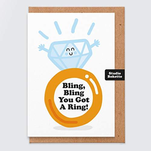 Compromiso - Felicitaciones por tu compromiso - para casarte - prometida - tienes un anillo - bling bling