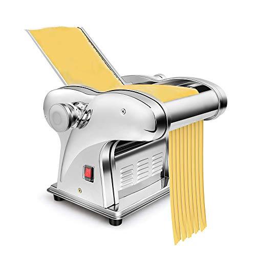 Elektrische Nudelmaschine Pasta Maker Edelstahl Pastamaschine aus Edelstahl, 220V Nudelmaschine mit 6 Einstellbarer Dicke, für Frische Spaghetti Tagliatelle Nudelknödel Haut