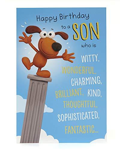 Tarjeta de cumpleaños para hijo-divertida tarjeta de cumpleaños para hijo-tarjeta de cumpleaños para perro-divertida tarjeta para cumpleaños-Tarjeta de regalo para él-regalos de cumpleaños para hijo