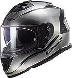 LS2 Casco de moto FF800 STORM JEANS, Gris, M