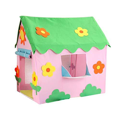 Hearthrousy Kinder Spielzelt Zelt Spielhaus Spielzelt Kinderzelt Zur Verfügung Kinder Spielhaus Spielzelt Prinzessin Traum Schloss Burg Haus für Mädchen Drinnen Oder Draußen
