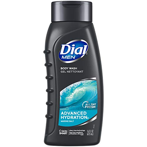 Dial Men Body Wash, Advance Hydration, 16 fl oz (Pack of 6) (Packaging may vary)