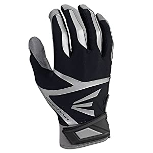 Easton Z7 VRS Hyperskin Batting Gloves, Gray/Black, X-Large