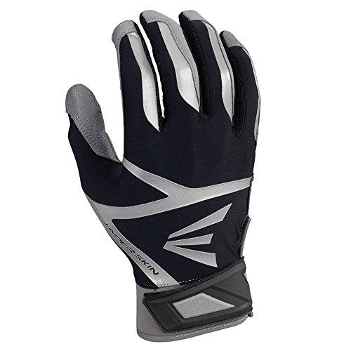 Easton Z7 VRS Hyperskin Batting Gloves, Gray/Black, Medium
