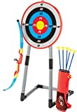 NSG Deluxe Bow and Arrow Set for Kids - Toy Archery Bow with Large Freestanding Target, Suction Cup Arrows,...