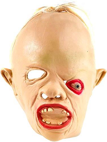 THE TWIDDLERS Máscara de Cabeza de Sloth de Los Goonies de Latex de Caucho Novedad Traje Fiestas de Disfraces de Halloween - Carnavales - Adulto Disfraz Accesorio