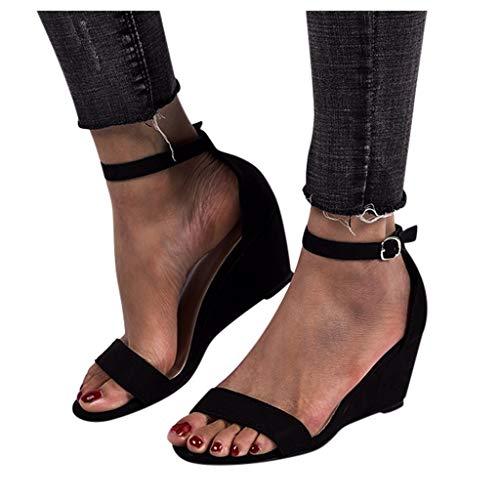 YHIIen Damen Peep Toe Stiletto High Heels Sandalen Sommer Knöchelriemen Damen Pumps Schuhe Römische Schuhe