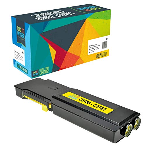 Do it wiser Compatible Toner Cartridge Replacement for Dell C3760 C3760n C3760dn C3765dnf (Yellow)