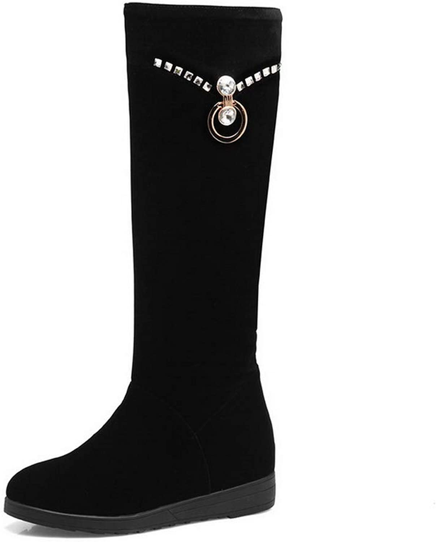 AdeeSu Womens Beaded Solid Charms Urethane Boots SXC03698