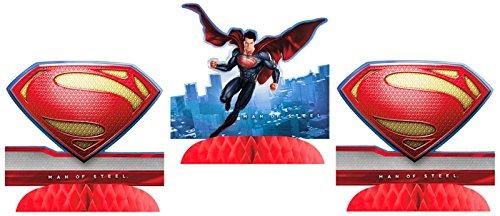Superman Man of Steel Centerpieces (3ct)