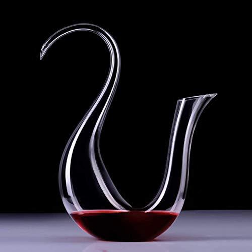 Decantador de vino de vino de cráneo y gafas Set Anterina de vino, vidrio de cristal transparente sin mangas a mano, mejorada, mejora del sabor y aroma del vino, accesorios de vino Diseño transparente