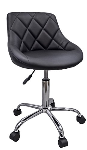 DevLon NorthWest Salon Nail Pedicure Manicure Medical Adjustable Swivel Rolling Stool Black