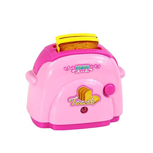 Creative Simulation tostadora Toy Mini electrodoméstico de Cocina Juguete drôle Accesorios de Cocina los niños Rosa
