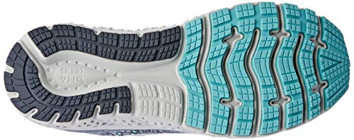 Brooks Womens Glycerin 17 Running Shoe - Grey/Aqua/Ebony - B - 9.5 2