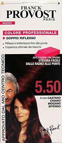 Franck Provost Set 6 Tinte Capelli Tonalità 5.50 Castano Chiaro Mogano Intenso - 1000 Gr