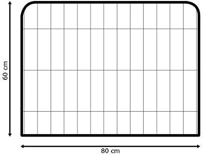 Parc Enclos Cage pour Chiens Chiots Animaux Lapin 8 Panneaux 3 Tailles Métal Solide Petigi, Größe (B x H):80 x 60 cm (8x)