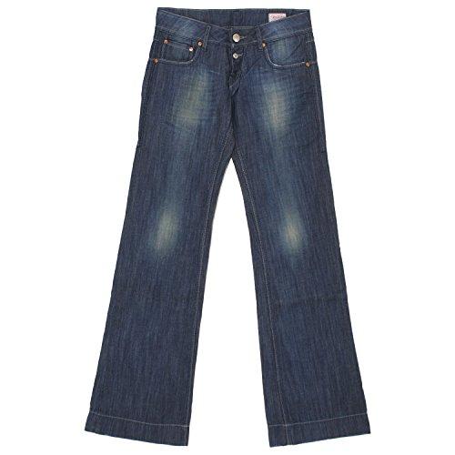 Herrlicher, Judie, Damen Damen Jeans Hose Denim Blue Used W 24 L 32 [19970]