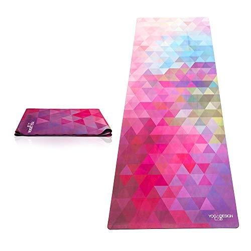 Yoga Design Lab Reise Yogamatte 1mm | Extrem leicht, Dünn, Faltbar, rutschfest, Waschbar | Guter Halt bei schweißtreibendem Sport | mit Tragegurt...