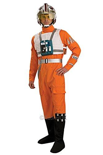 Herren X-Wing Fighter Pilot Rubies Star Wars Overall Uniform Outfit Kostüm - Größe M-L