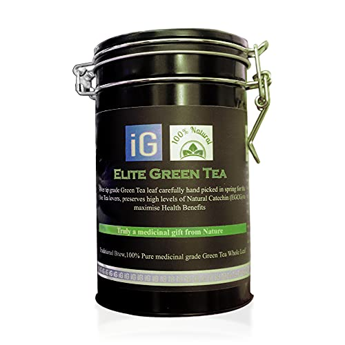 Elite Green Tea Loose Leaf Signature tea Ceremonial Grade with Organic Ceylon Cinnamon
