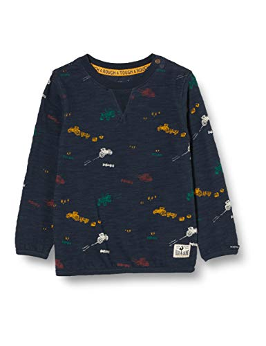 Noppies Baby-Jungen B LS Rietbron AOP T-Shirt, Dark Sapphire-P208, 68