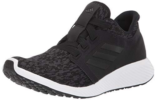 adidas womens Edge Lux 3 Running Shoe, Black/Black/Carbon, 9.5 US