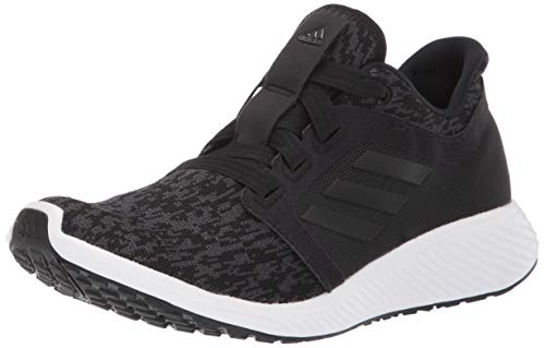 adidas womens Edge Lux 3 Running Shoe, Black/Black/Carbon, 8.5 US