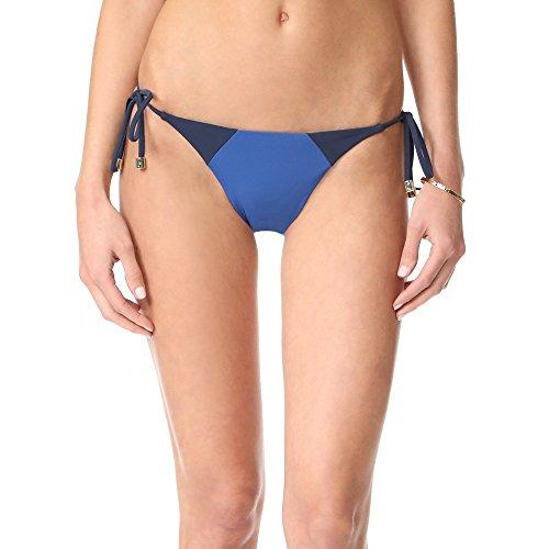 Heidi Klum Damen-Bikini, seitliche Schnürung, abtrennbar - Blau - Medium