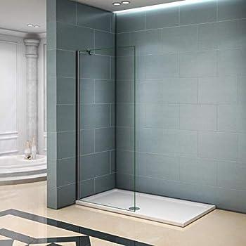 Mampara ducha Panel Pantalla Fija cristal 8mm templado para baño (80x200cm): Amazon.es: Bricolaje y herramientas