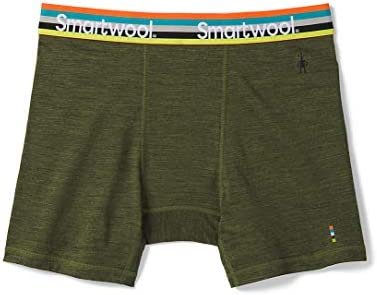 Smartwool Men s Base Layer Bottom Merino 150 Wool Sport Active Boxer Briefs Moss Green Heather product image