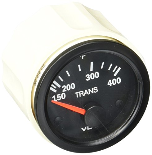 VDO Vision Black 400° F Transmission Temperature Gauge - Use with VDO Sender - 12V