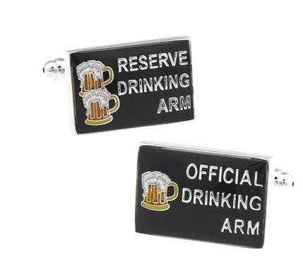 Bouton de manchette special buveur de bières