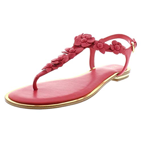 Michael Michael Kors Womens Tricia Leather Thong Flats