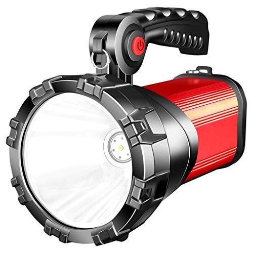 WMKEDB Everyday Flashlights, Torche LED Super Bright USB Rechargeable lampe de poche éblouissement rechargeable super lumineux multifonctions spécial forces rechargeable portable lampe au xénon projec