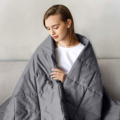 Weighted Blanket for Adult Women and Men Heavy Blanket New Concept Comfortable Breathable Cotton Material Warm and Close-Fitting (60''x80'', 18)