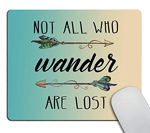 CUKENG Gaming Mauspad Custom, inspirierendes Zitat über Reisen und Leben Mauspad, nicht alle, die wandern sind verloren