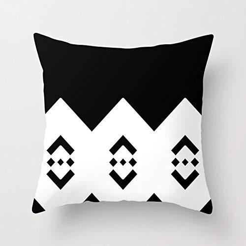 PPMP Funda de Almohada geométrica nórdica Personalizada, Funda de cojín en Espiga para decoración del sofá del hogar, Funda de Almohada, Funda de cojín A5 45x45 cm, 1pc