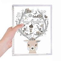 鹿のクリスマスギフト父の家 硬質プラスチックルーズリーフノートノート