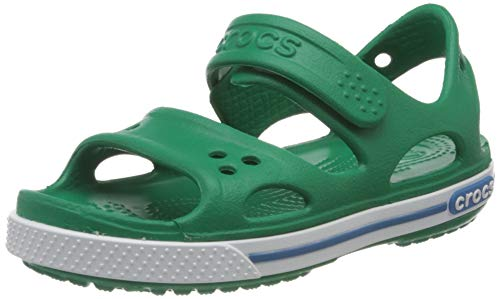 crocs Unisex-Kinder Crocband II PS\' Sandalen, Grün (Deep Green/Prep Blue 3tv), 23/24 EU