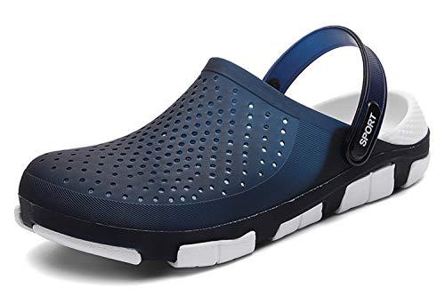 [WOWEI] サンダル メンズ 水陸両用 超軽量 通気性 速乾 ビーチサンダル メッシュサンダル 室内履き スリッパ ルームシューズ クロッグ サボ、ブルー、25.5 CM