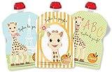SQUIZ - 3 Bolsas de comida rellenables y reutilizables Colección 'Sophie la Girafe' de 90ml para bebés – HECHO IN SUIZA